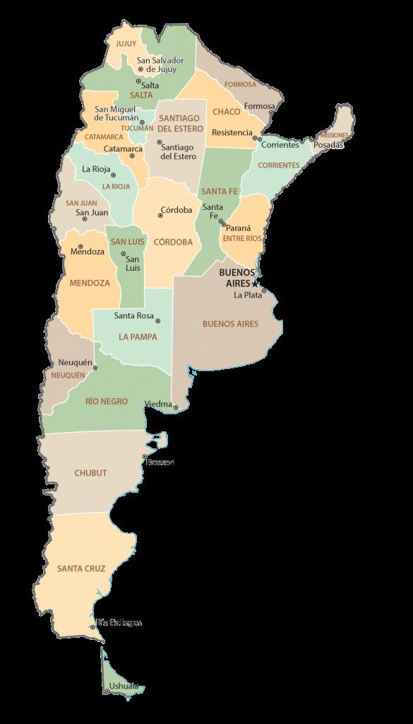 Argentina Province Map