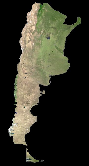 Argentina Satellite Map