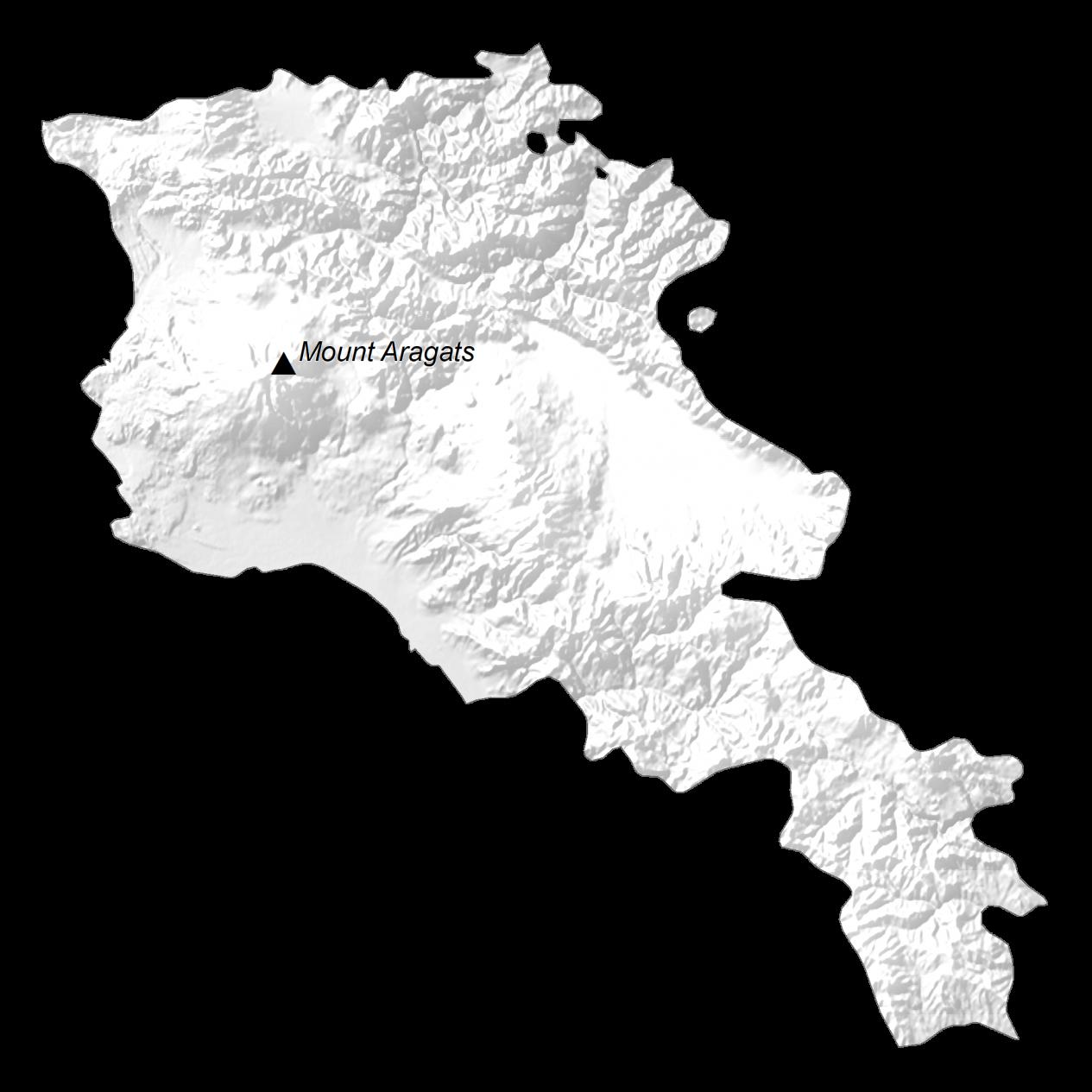 Armenia Elevation Map