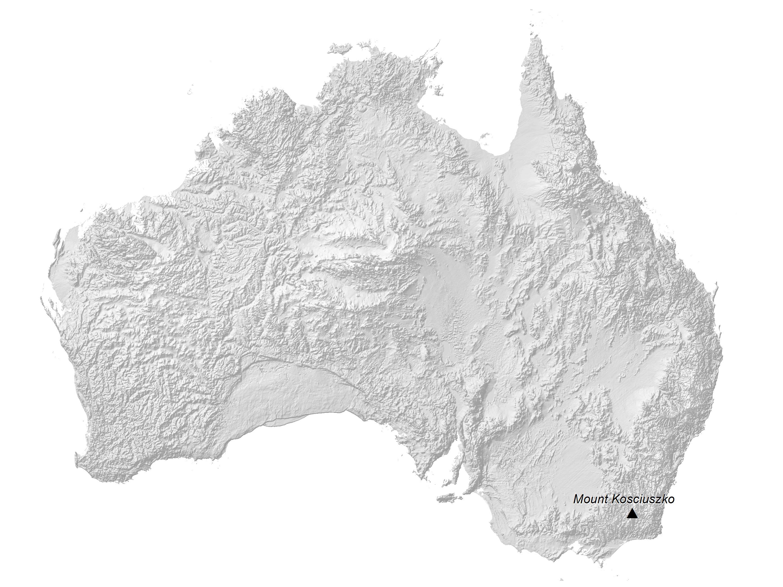 Australia Elevation Map