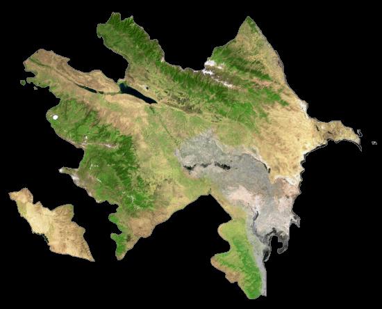 Azerbaijan Satellite Map