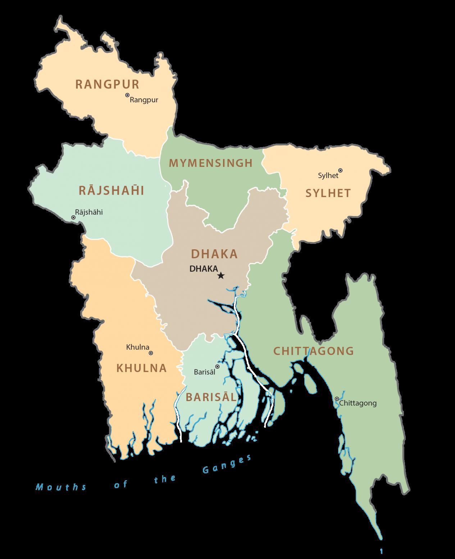 Bangladesh Administration Map