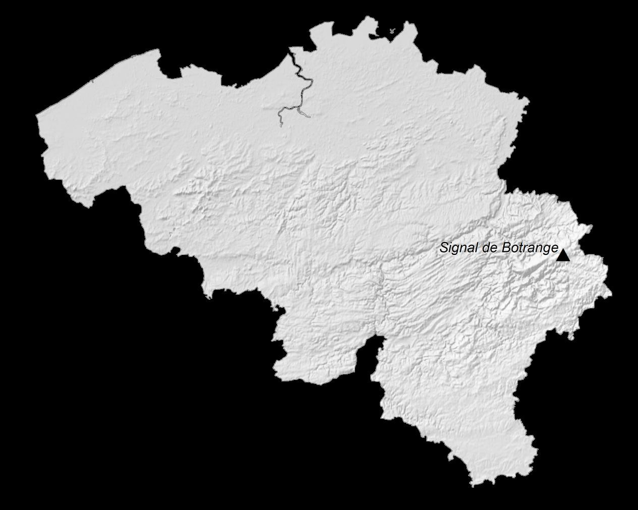 Belgium Elevation Map