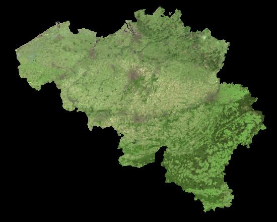 Belgium Satellite Map