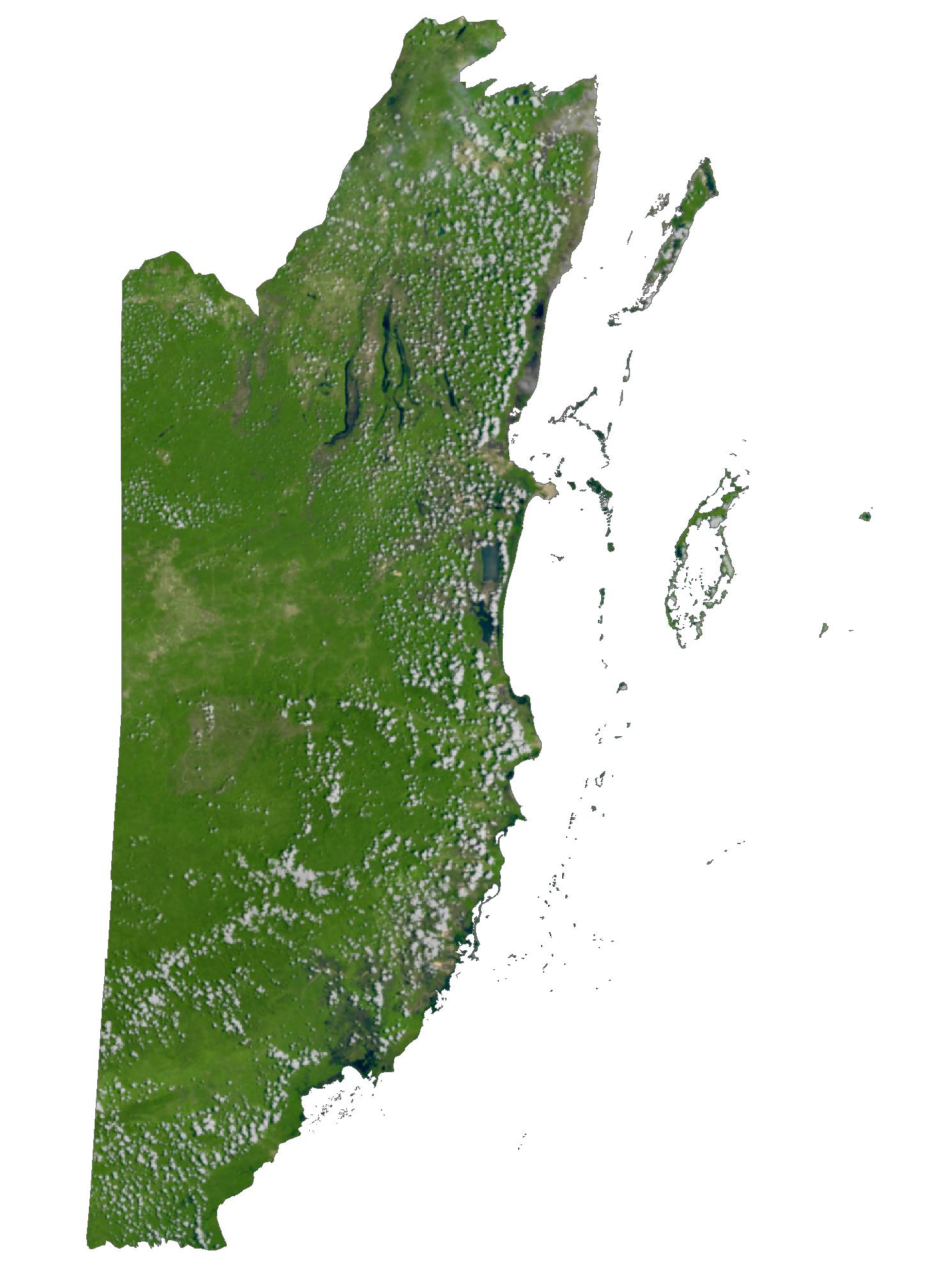 Belize Satellite Map