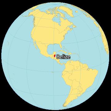 Belize World Map