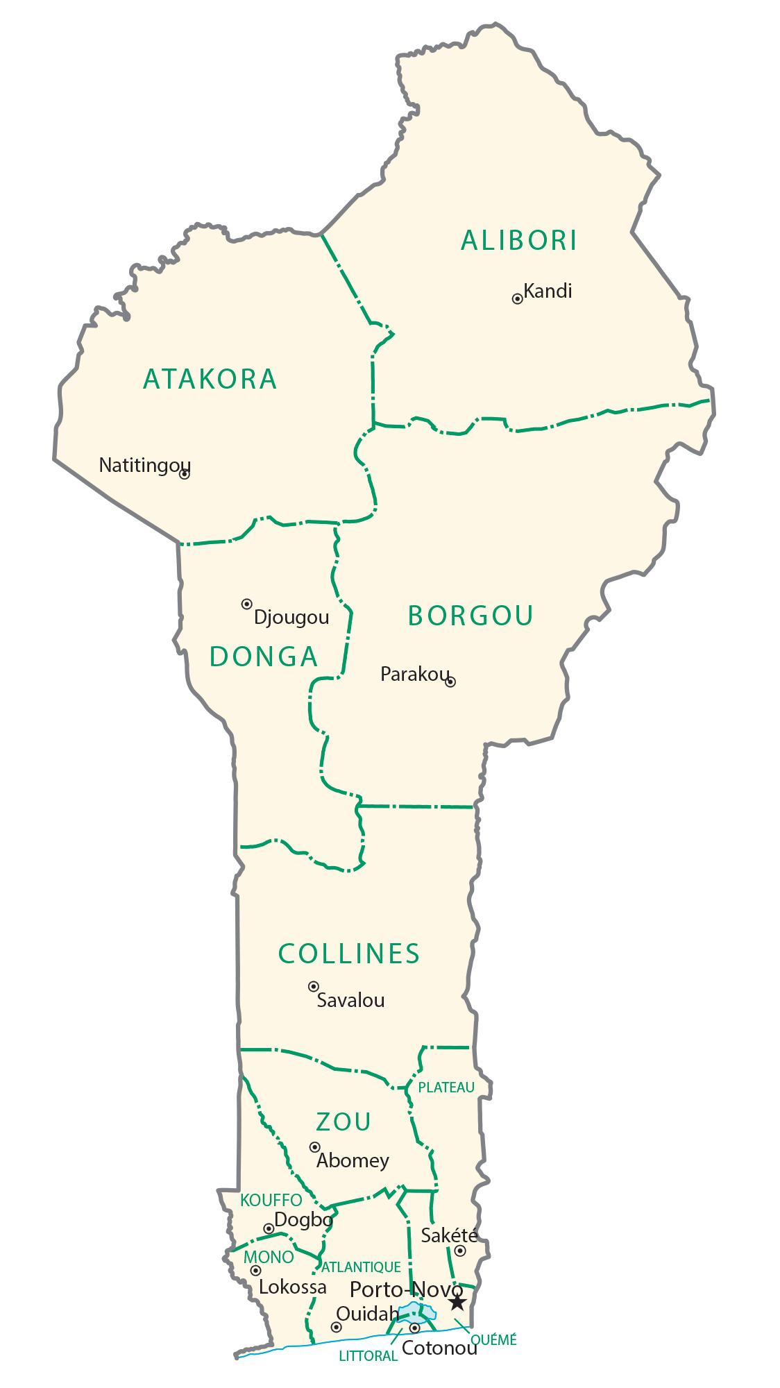Benin Administration Map