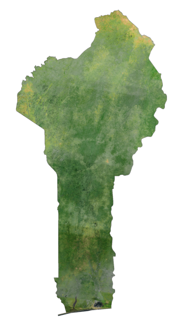 Benin Satellite Map