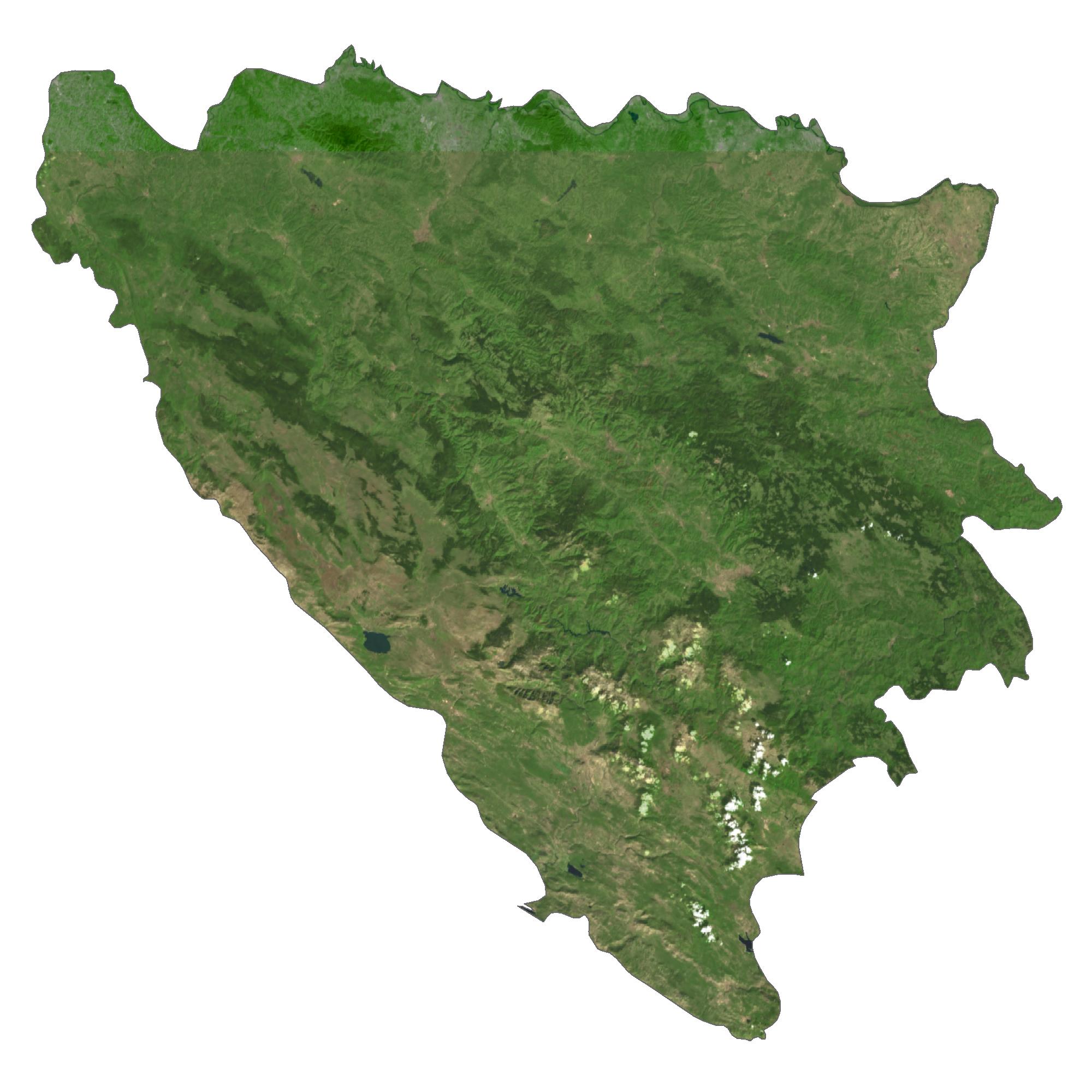 Bosnia and Herzegovina Saetllite Map