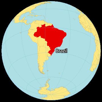 Brazil World Map