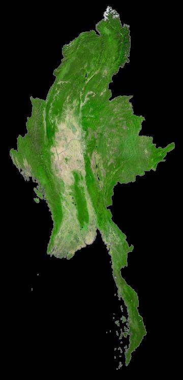 Burma Satellite Map