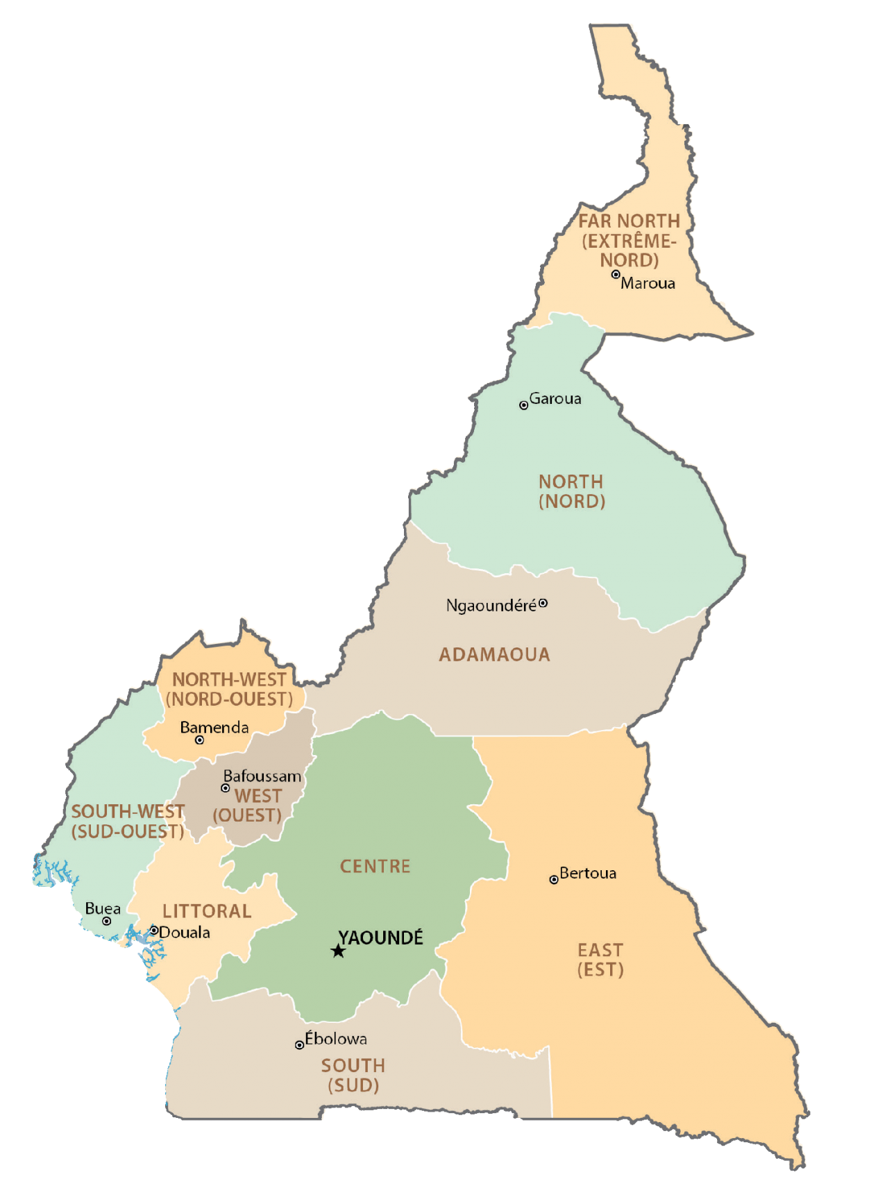 Cameroon Administrative Map