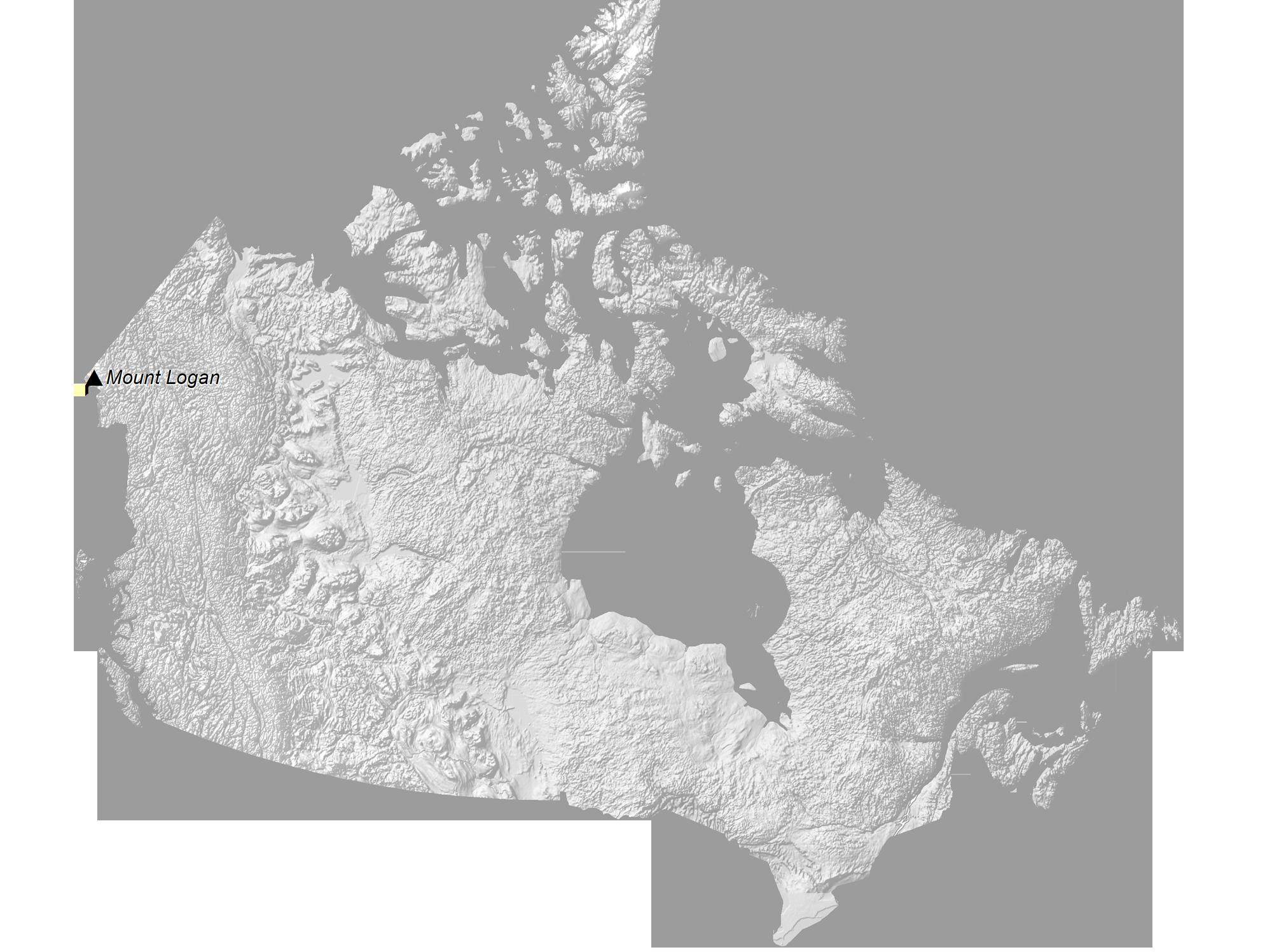 Canada Elevation Map