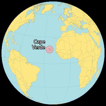 Cape Verde World Map