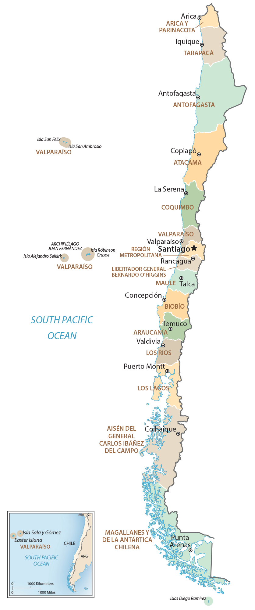 Chile Regions Map