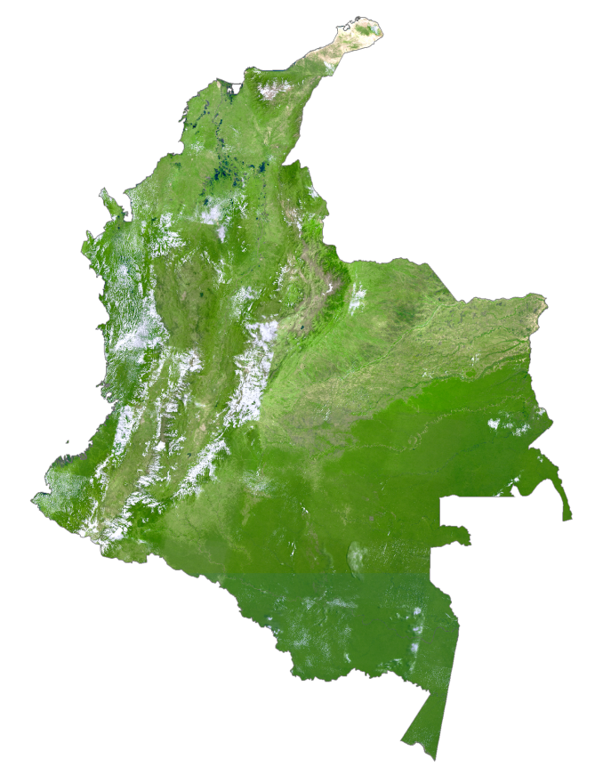 Colombia Satellite Map