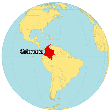 Colombia World Map