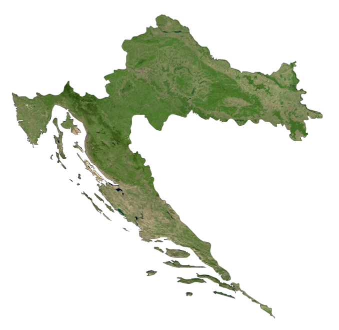 Croatia Satellite Map