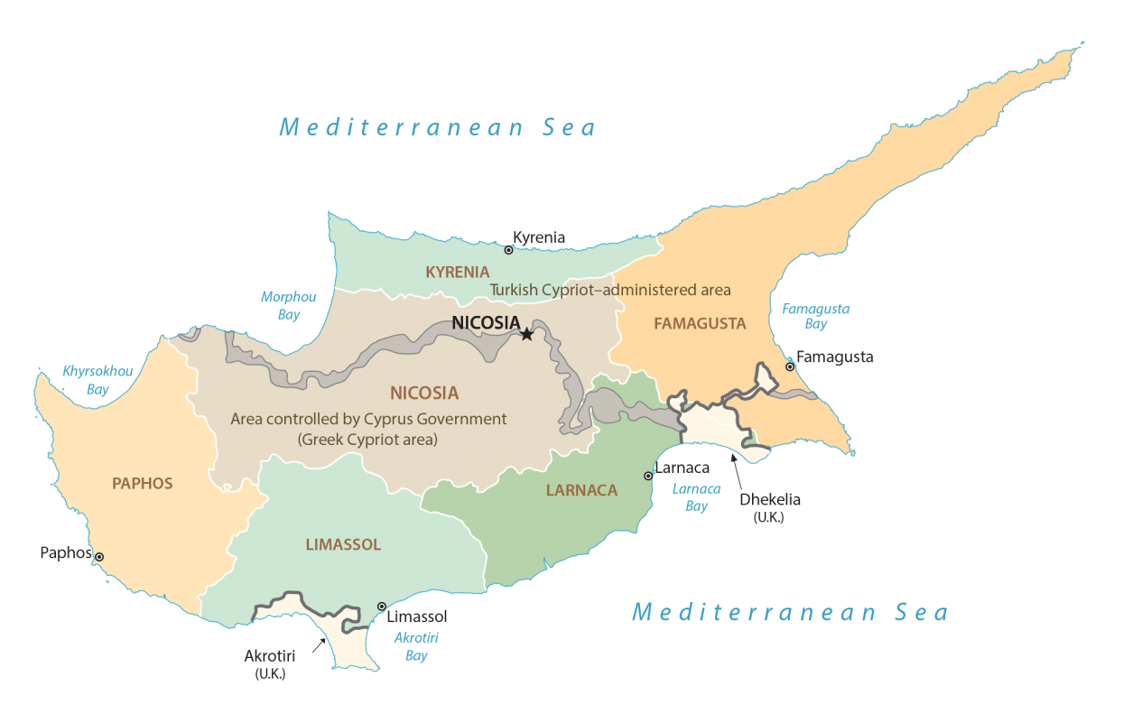 Cyprus Districts Map