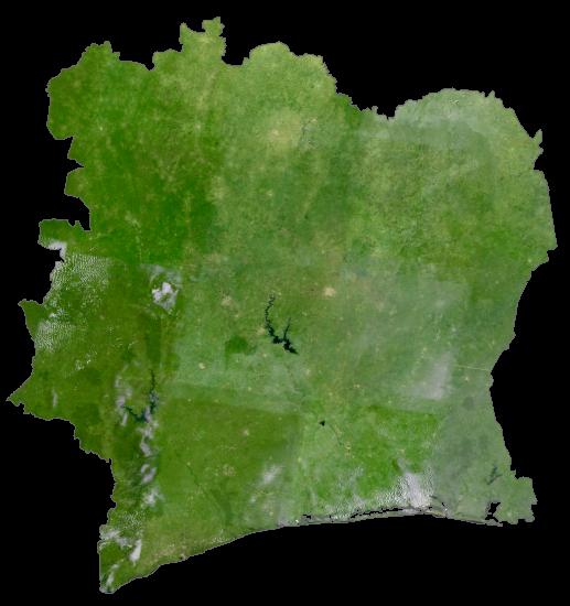 Ivory Coast Satellite Map
