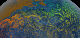 NASA Scientific Visual Studio Ocean Currents Map