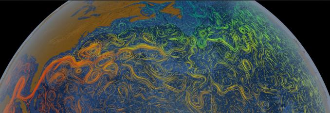 NASA Scientific Visual Studio Ocean Currents Map