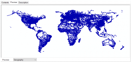 ArcCatalog Geography Preview