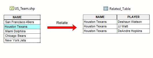 Relate Table ArcGIS