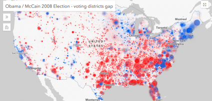 esri javascript api 2008 election results animate variable