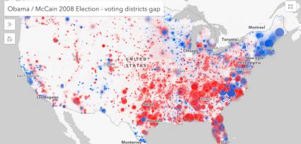 esri javascript api 2008 election results animate variable