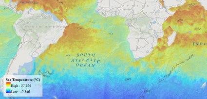 esri javascript api 3d custom thematic sea temperature