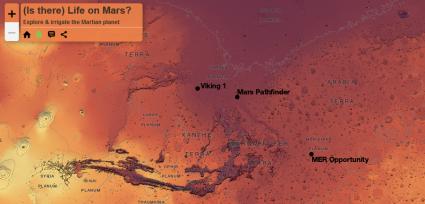 esri javascript api life on mars