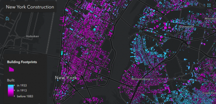 esri javascript api new york construction animation