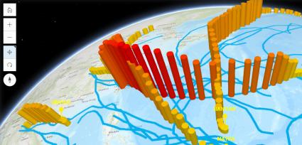 esri javascript api western pacific typhoons