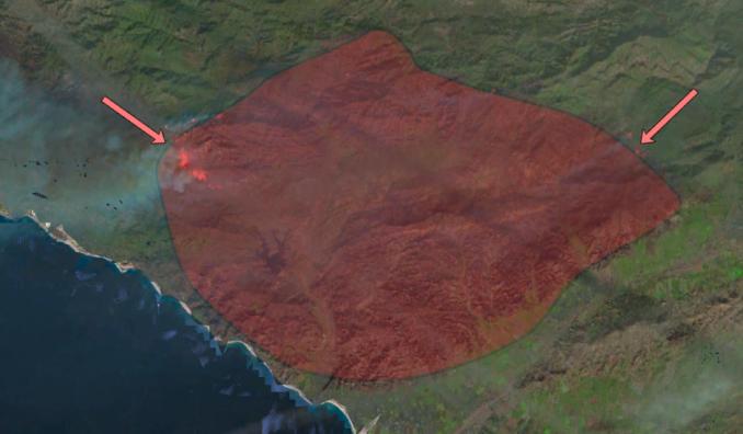 Active Fire Maps - Landsat Burned Area Extent