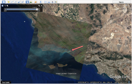 Active Fire Maps Landsat Look Overlay