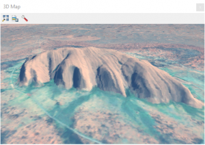 ayers rock uluru qgis 3 3d window