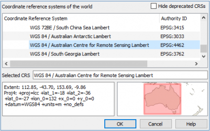 qgis 3 coordinate reference-system extent preview