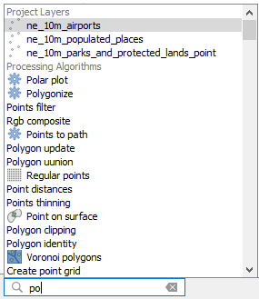 qgis 3 locator search bar