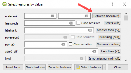 qgis 3 select feature value