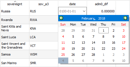 qgis 3 table calendar picker