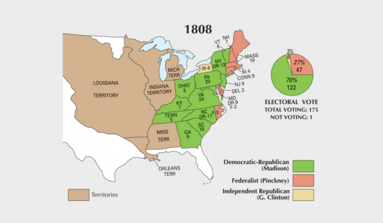 US Election of 1808 Map