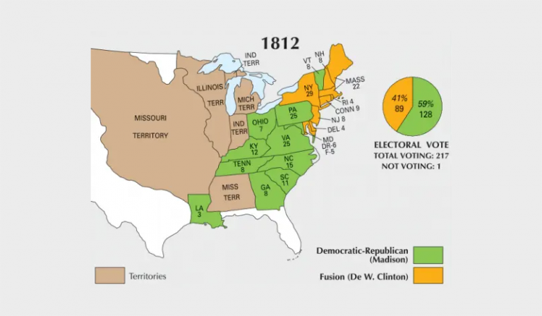 US Election of 1812 Map
