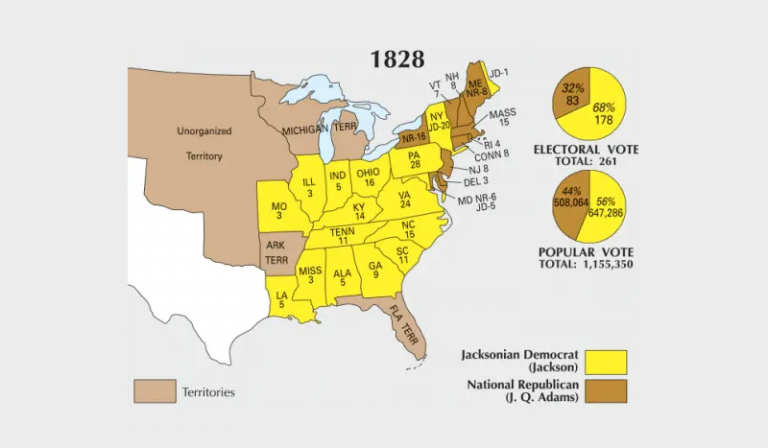 US Election of 1828 Map