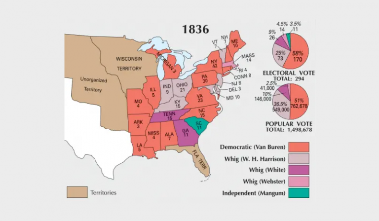 US Election of 1836 Map