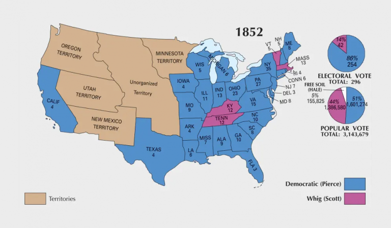 US Election of 1852 Map