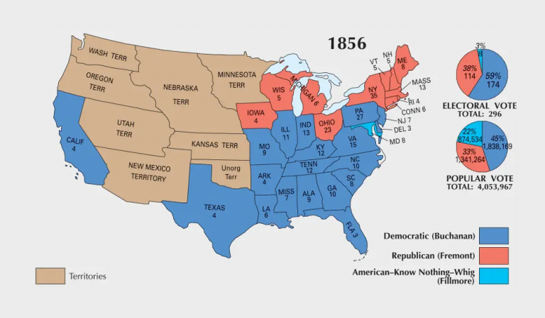 US Election of 1856 Map