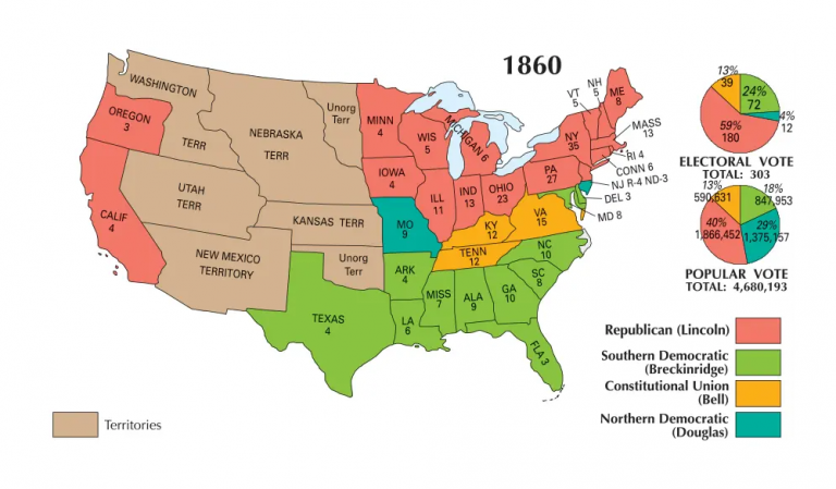 US Election of 1860 Map
