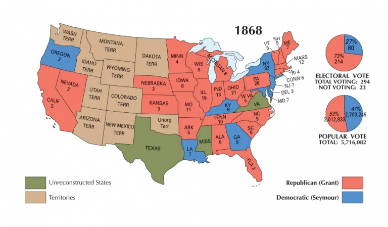 US Election of 1868 Map