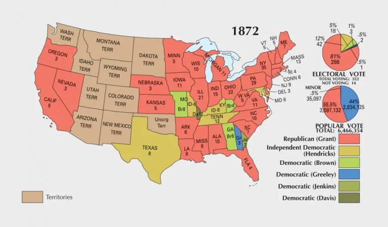 US Election of 1872 Map